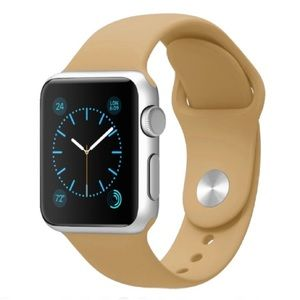 NEW Walnut Tan Silicone Sport Band For Apple Watch